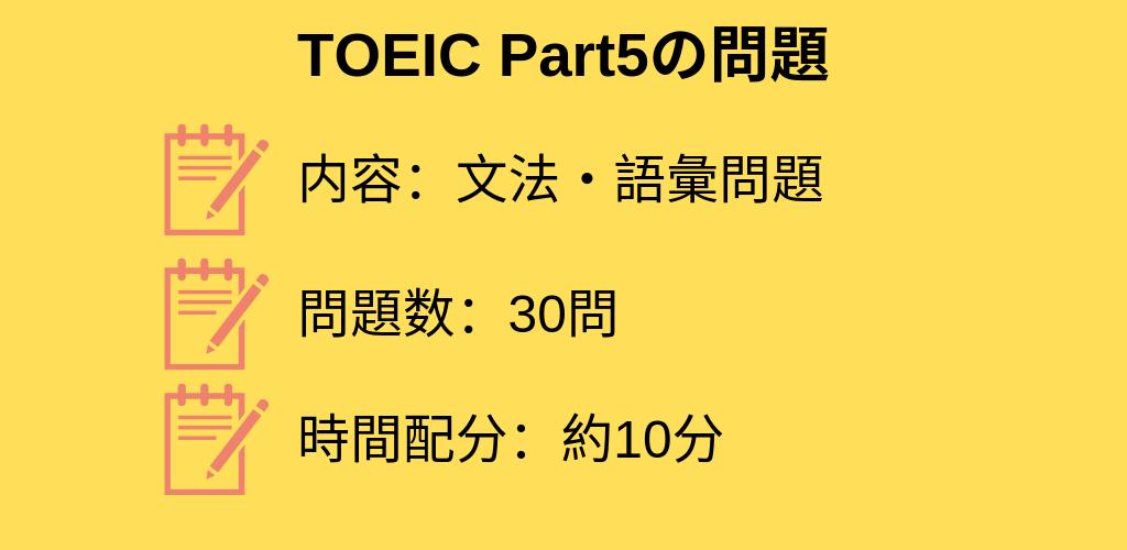 TOEIC Part5問題